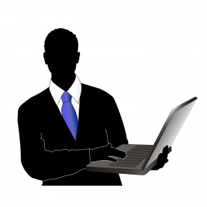 Businessman-with-the-notebook-siloutte